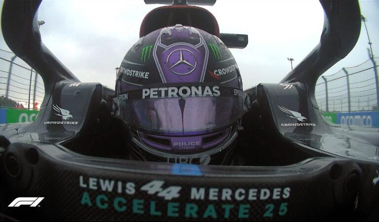 Lewis Hamilton consigue su victoria #100 en la F1 en Rusia; Sergio Pérez se pierde una vez más del podio