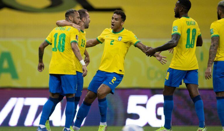 Cómoda victoria para Brasil ante Perú en las eliminatorias de CONMEBOL