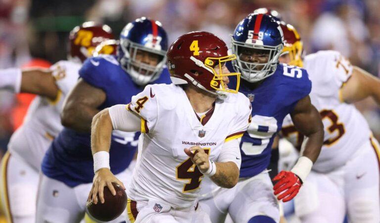 Washington le gana de último segundo a Giants en el inicio de la Semana 2