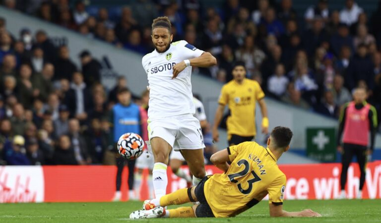 Leeds United le quitó la victoria a Wolverhampton en el añadido, quienes rescatan un punto en casa