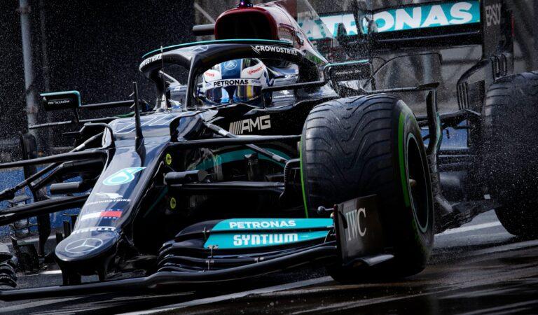 Valtteri Bottas consigue su primera victoria con Mercedes en la temporada; Sergio Pérez sube al podio