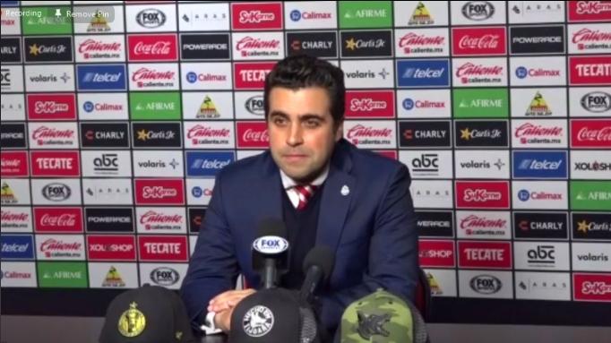 """""""Con ganas de que venga Cruz Azul, queremos hablar en la cancha"""": Marcelo Michel Leaño"""